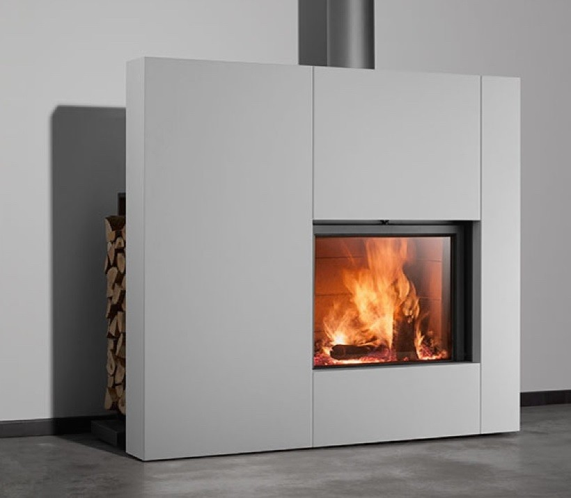 STUV 21-CLAD – WOOD BURNING FIREPLACE
